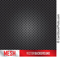 metal mesh background, vector illustration