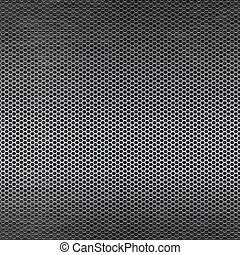 Metal mesh background with reflections - Metal mesh texture...
