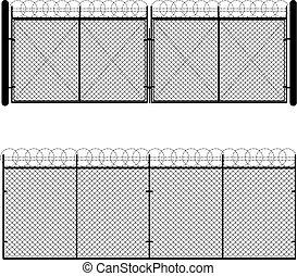 Metal Mesh Gate