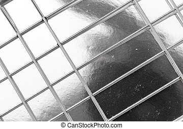 metal mesh on a silver background