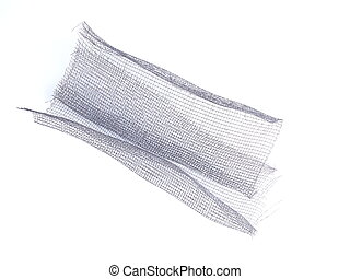 Metal mesh on a white background