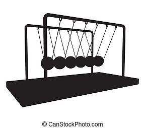 Metal Metronome Balancing Balls Cradle Vector