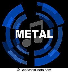 metal music black background simple web icon
