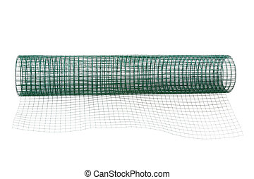 Metal net coated with green PVC
