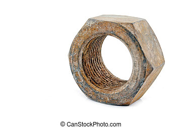 metal nut isolated