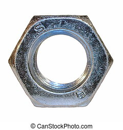 metal nut on isolated background