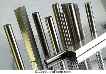 metal objects on metalic background close up