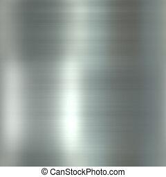 metal, oczyszczony szczotką, połyskujący