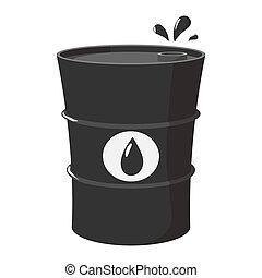 Metal oil barrel cartoon icon