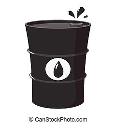 Metal oil barrel cartoon icon