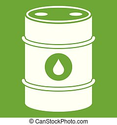 Metal oil barrel icon green