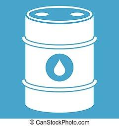 Metal oil barrel icon white