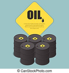 Metal oil barrel. Oil, petroleum, tank car, tanker. Oil industry business. Flat 3d isometric infographic vector illustration.