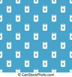 Metal oil barrel pattern seamless blue