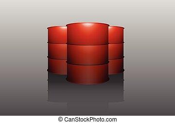 metal oil barrel tank vector