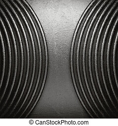 metal on wall background