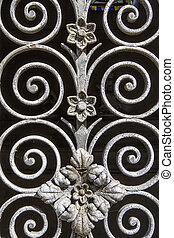 metal, ornamentación, plano de fondo