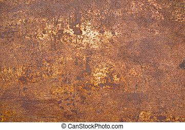 metal, oxidación, plano de fondo