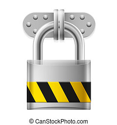 Metal padlock