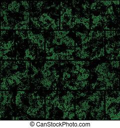 metal, painéis, verde, pretas
