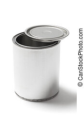 Metal Paint Can with a Clipping Path