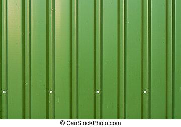 Green metal panels texture