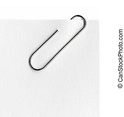 metal, papel, explorado, clip
