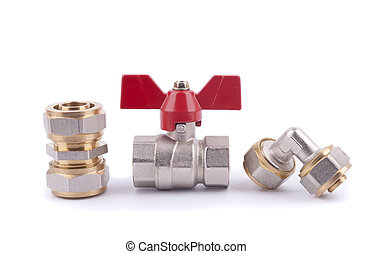 Metal parts for sanitary equipment and ball valve.