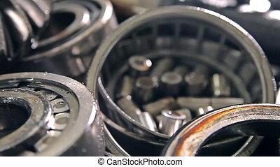 Metal parts of a car