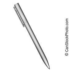 metal pen isolated on white