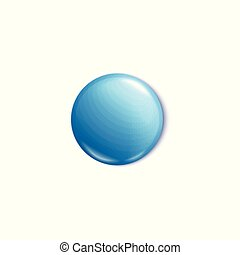 Metal pin button or round empty badge 3d vector illustration mockup isolated.