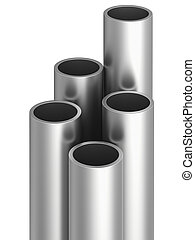 Metal pipe. 3d rendering illustration isolated on white background