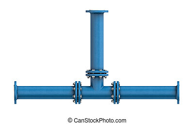 Metal pipe isolated on a white background