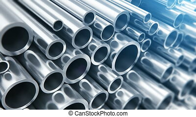Metal pipes - Creative abstract heavy metallurgical industry...