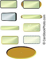 metal, placas, blanco