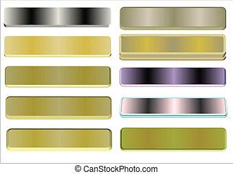metal, placas conhecidas
