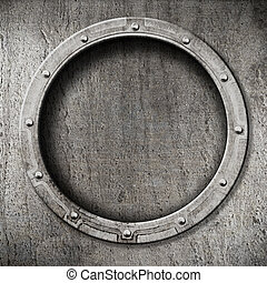 metal, plano de fondo, portilla