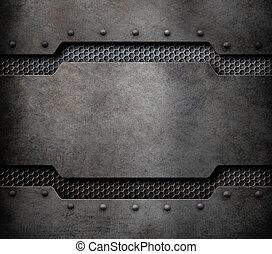 metal plaque background with rivets 3d illustration
