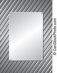 plaque - metal plaque on metallic background