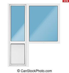 PVC balcony window and door - Metal plastic PVC PVC balcony...