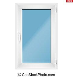 PVC window with one sash - Metal plastic PVC window with one...