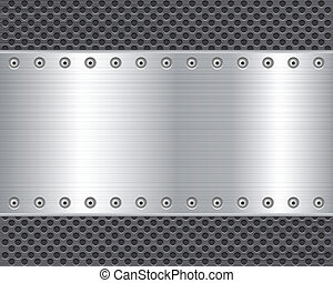 metal plate background 2