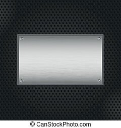 Metal plate background - Brushed metal texture on a...