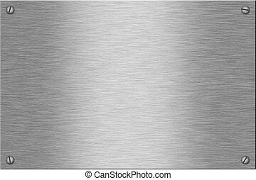 Metal plate series: blank.