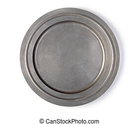 metal plate on a white