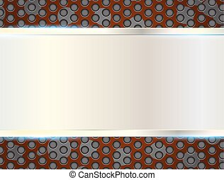 metal plate on Grill texture. Vector Illustration