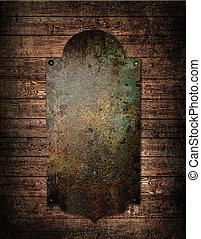 metal plate on the wall