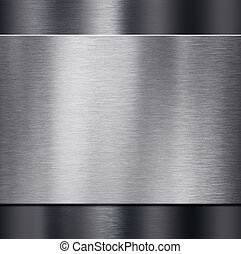 metal plate over dark metalic background 3d illustration -...