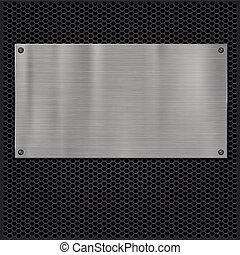 Metal plate over grate texture, vector illustration for your...