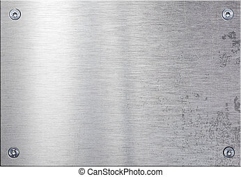 Metal plate with four bolts